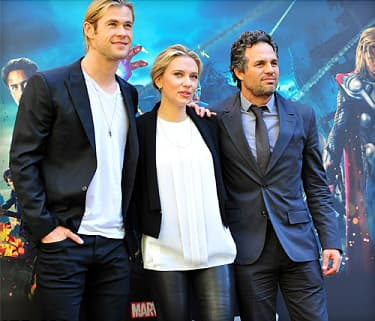the stars of The Avengers