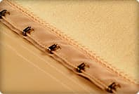 back clasp of a control garment