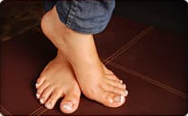 womans bare feet