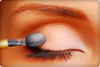 eye shadow applicator over eye