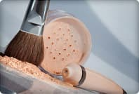 powder brush and foundation