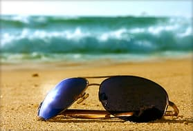 sunglasses left on beach