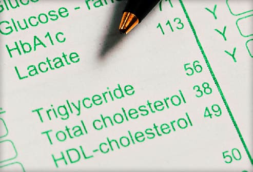 blood lipid test results