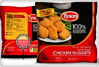 tyson chicken nugget packaging