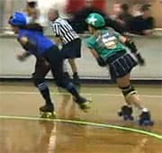Skaters swap skin bacteria during bouts.