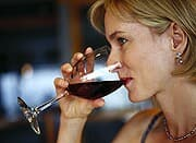 Women who consume alcohol in moderation have