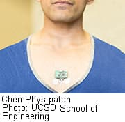 Experimental wearable patch monitors biochemical,