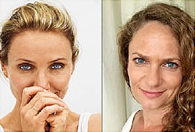 Cameron Diaz and Sandra Bark
