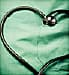 heart-shaped stethoscope