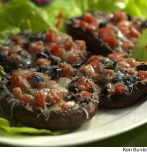 Healthy Recipes: Tomato-&-Olive-Stuffed Portobello Caps