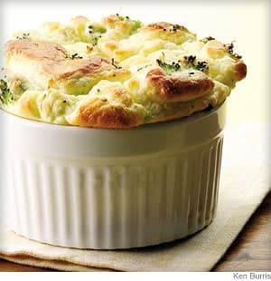 Broccoli & Goat Cheese Soufflé