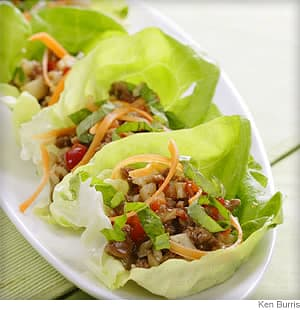 five spice turkey and lettuce wraps