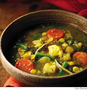 ginger split pea and vegetable curry