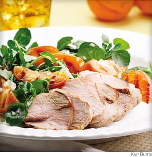 Grilled Pork Tenderloin & Apricot Salad