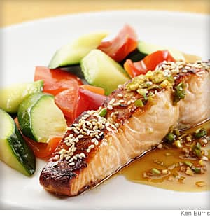 honey soy broiled salmon
