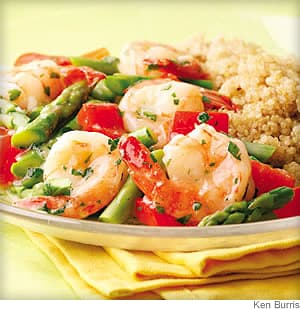Lemon-Garlic Shrimp &amp; Vegetables