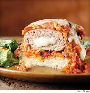 mozzarella stuffed turkey burgers