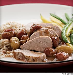pork tenderloin with roasted grape