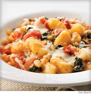 skillet gnocchi with chard and beans