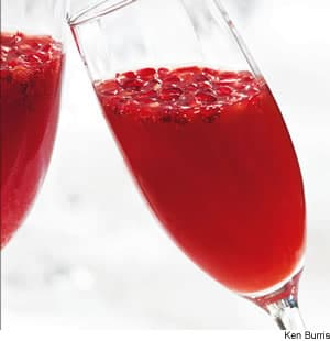 Blood-Orange Pomegranate Mimosas