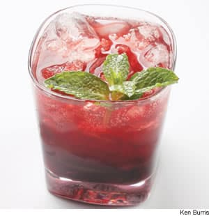 Cherry-Mint Spritzer