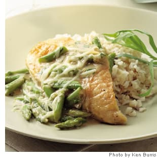 Chicken Recipe: Chicken and Asparagus with Melted Gruyere