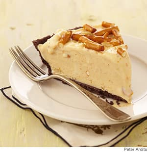Frozen Peanut Butter-Pretzel Pie Recipe