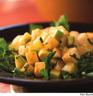 Jicama & Cucumber Salad With Red Chile Dressing