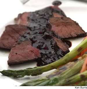 London Broil With Cherry-Balsamic Sauce