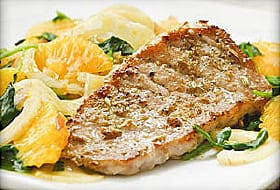 pork chops with orange fennel salad
