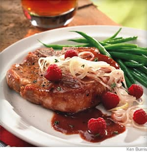 Raspberry and Onion Pork