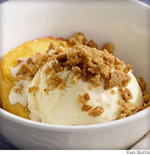 Roasted Peach Sundaes