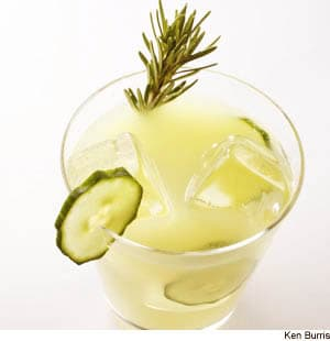 Rosemary-Infused Cucumber Lemonade