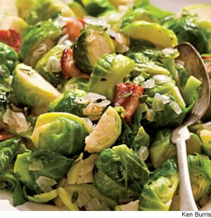 Sautéed Brussels Sprouts With Bacon & Onions