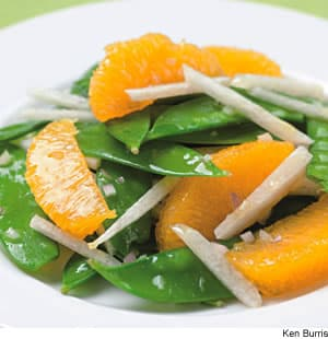 Snow Pea, Orange, & Jicama Salad