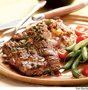 Steak & Potatoes With Anchovy-Caper Vinaigrette Recipe