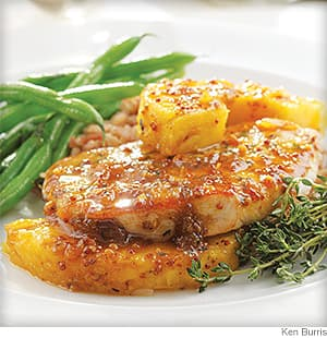 Thyme, Pork Chop & Pineapple Skillet Supper