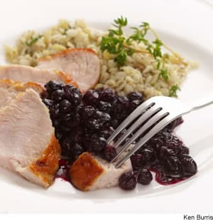 Turkey With Blueberry Pan Sauce