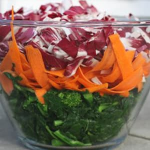 Broccoli Rabe, Carrot and Radicchio Salad