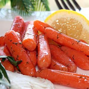 Glazed Baby Carrots and Fresh Dill