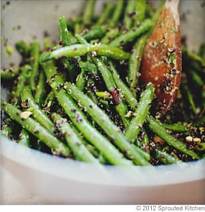 Green Bean and Black Quinoa Salad