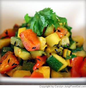 Pan-Fried Zucchini and Yellow Squash With Cumin