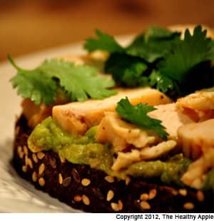 Tofu Toast With Endive Watercress Guacamole