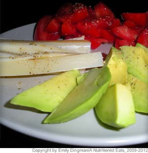 Tomatoes, Avocado and Hearts of Palm Salad