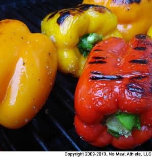 Twice-Grilled Peppers With Fresh Mozzarella