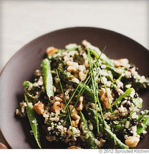 Warm Asparagus Salad With Basil and Mint Pistou