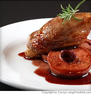 Roasted Duck With Red Wine-Braised Apples