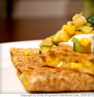 Zucchini and Corn Quesadilla
