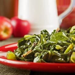 smoky greens without ham hocks bacon grease