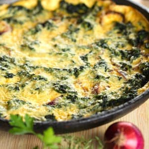 Spinach and Mushroom Bake